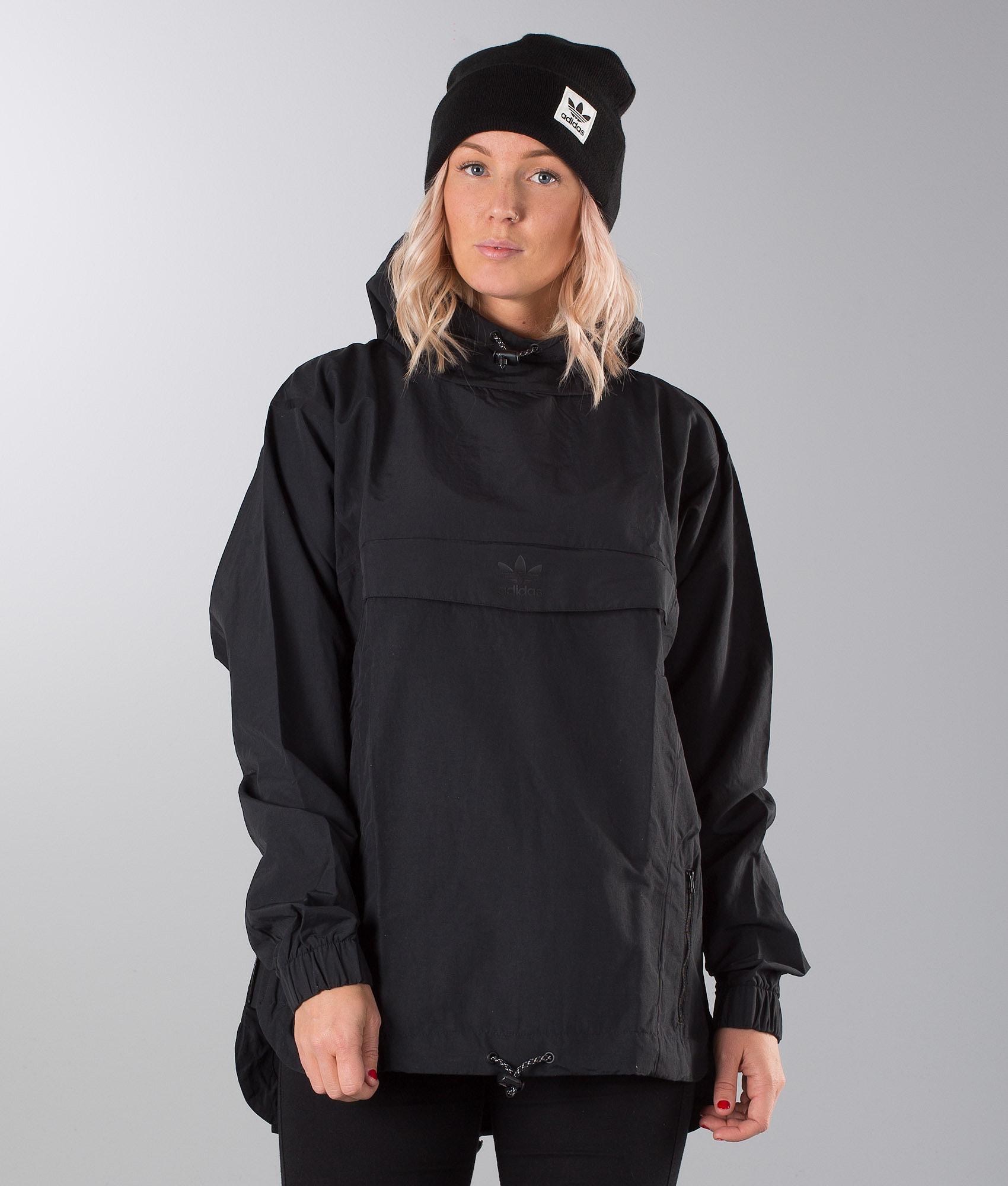 7e477c7cfccdd Adidas Originals Taped Anorak Unisex Jacket Black - Ridestore.com