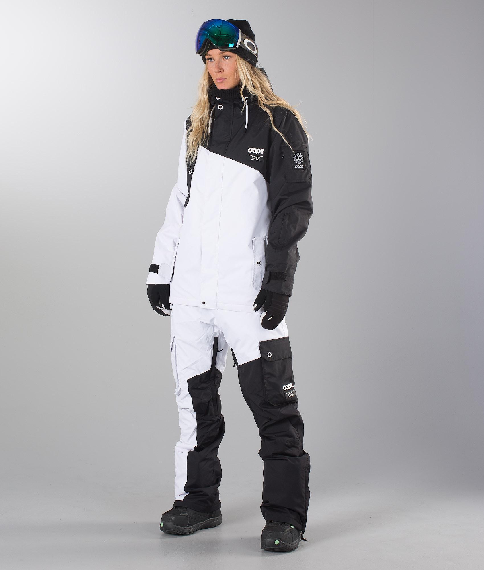 0681bf9cdb Dope Adept Unisex Snowboard Jacket Black White - Ridestore.com