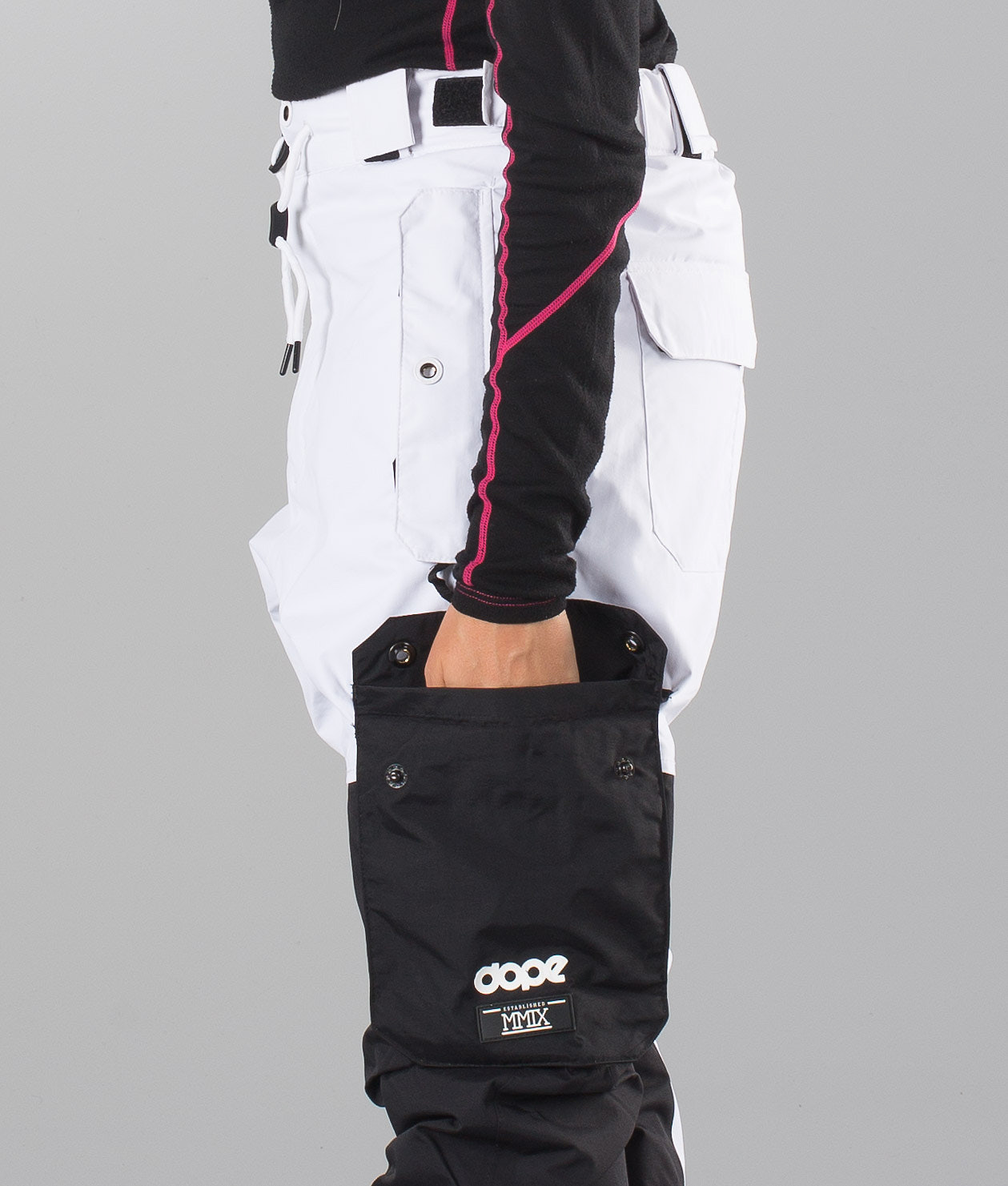 4eb1d928f7 Dope Adept Unisex Ski Pants Black White - Ridestore.com