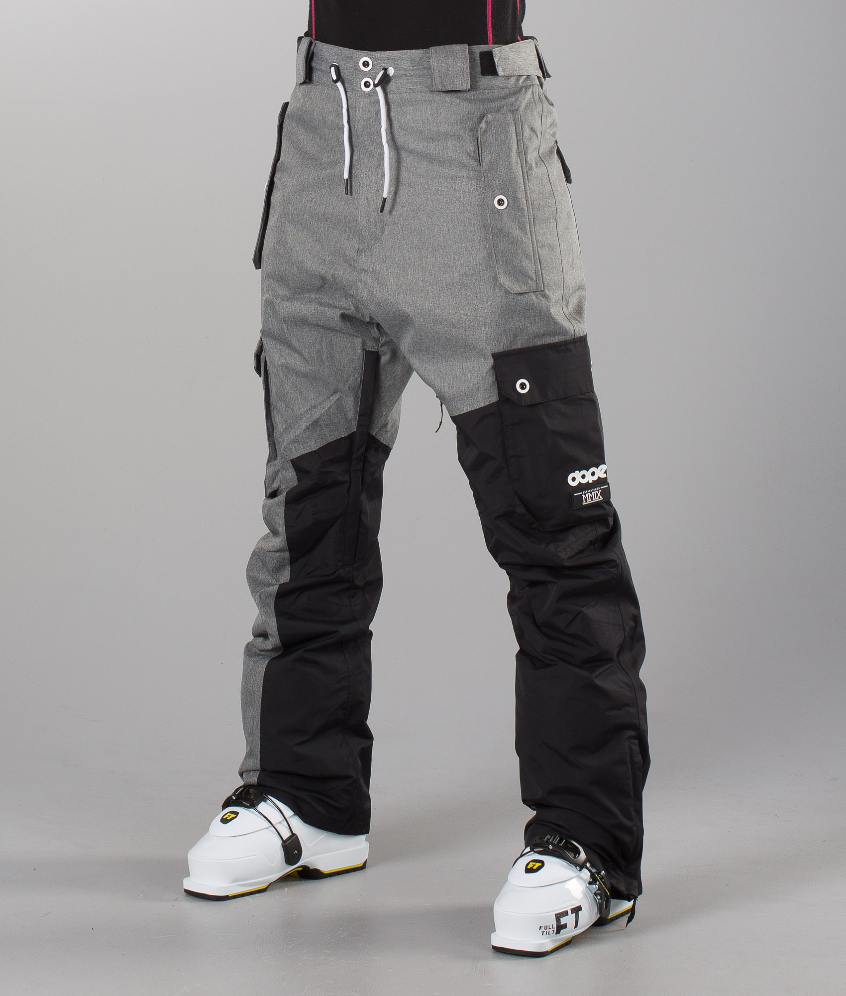 aea306c070 Dope Adept Unisex Ski Pants Black Greymelange - Ridestore.com