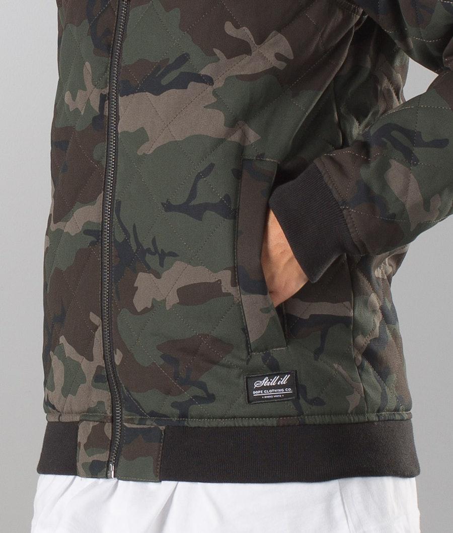 Dope Bomber Unisex Women's Jacket Wood-Camo