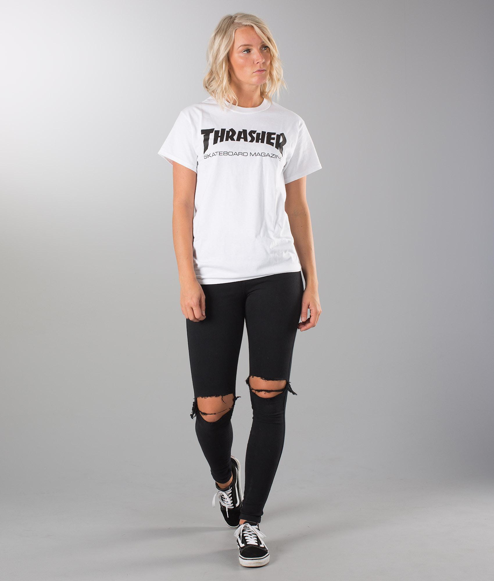 dbe301e4 Thrasher Skate Mag Unisex T-shirt White - Ridestore.com
