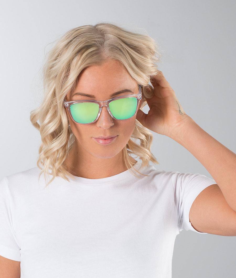 Dope Daywalker II Sunglasses Clear Mirror Green