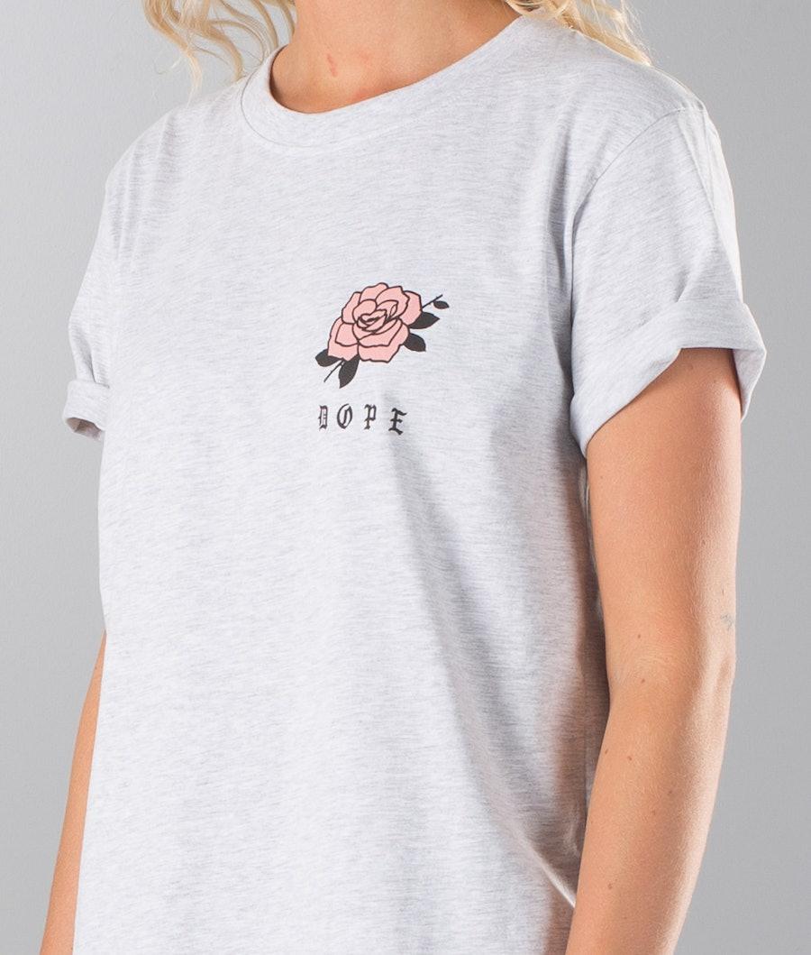 Dope ROSE Unisex T-shirt Dam Greymelange