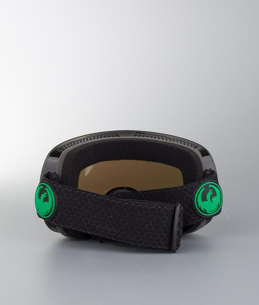 Dragon X1 Skibril Split w/Lumalens Green Ion+Lumalens Amber