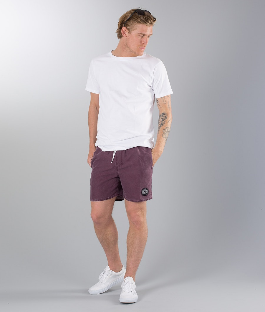 Dope Gaze Street Shorts Burgundy