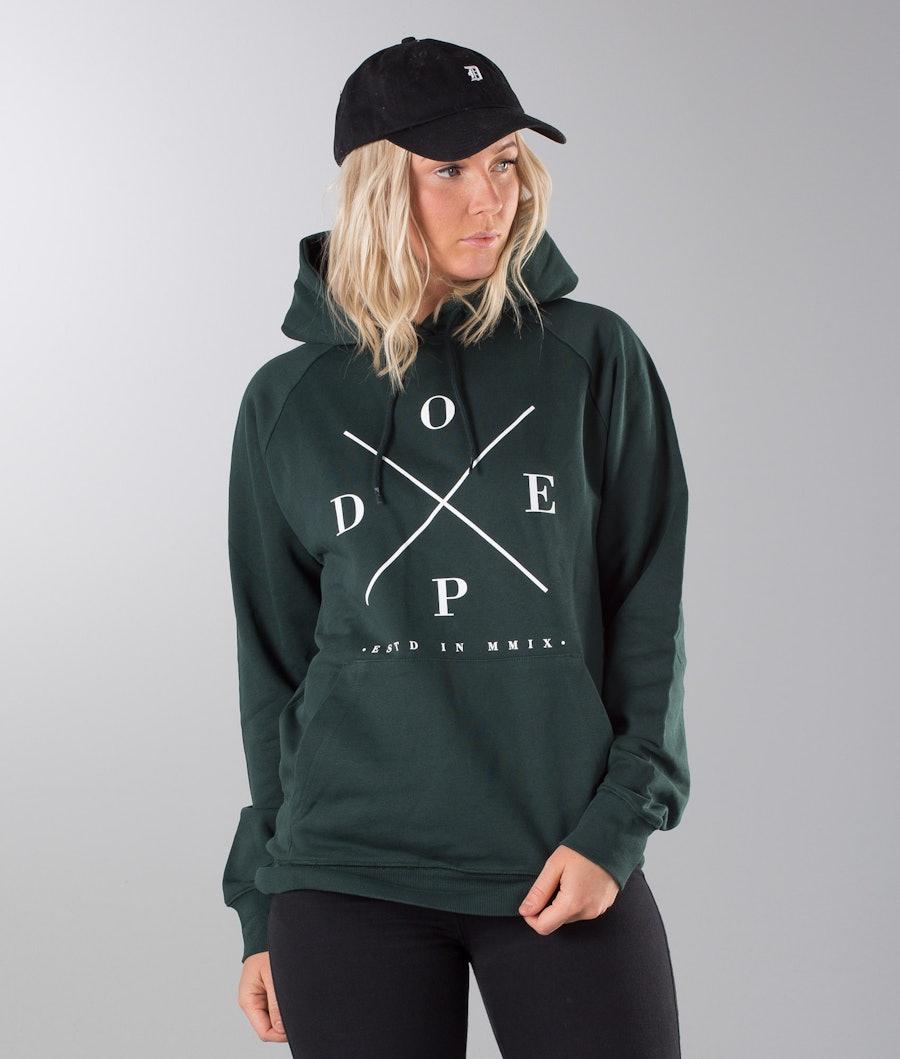 Dope 2X-UP Unisex Hood Dam Royal Green
