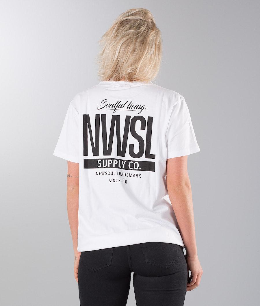 Newsoul Face Unisex T-Shirt White