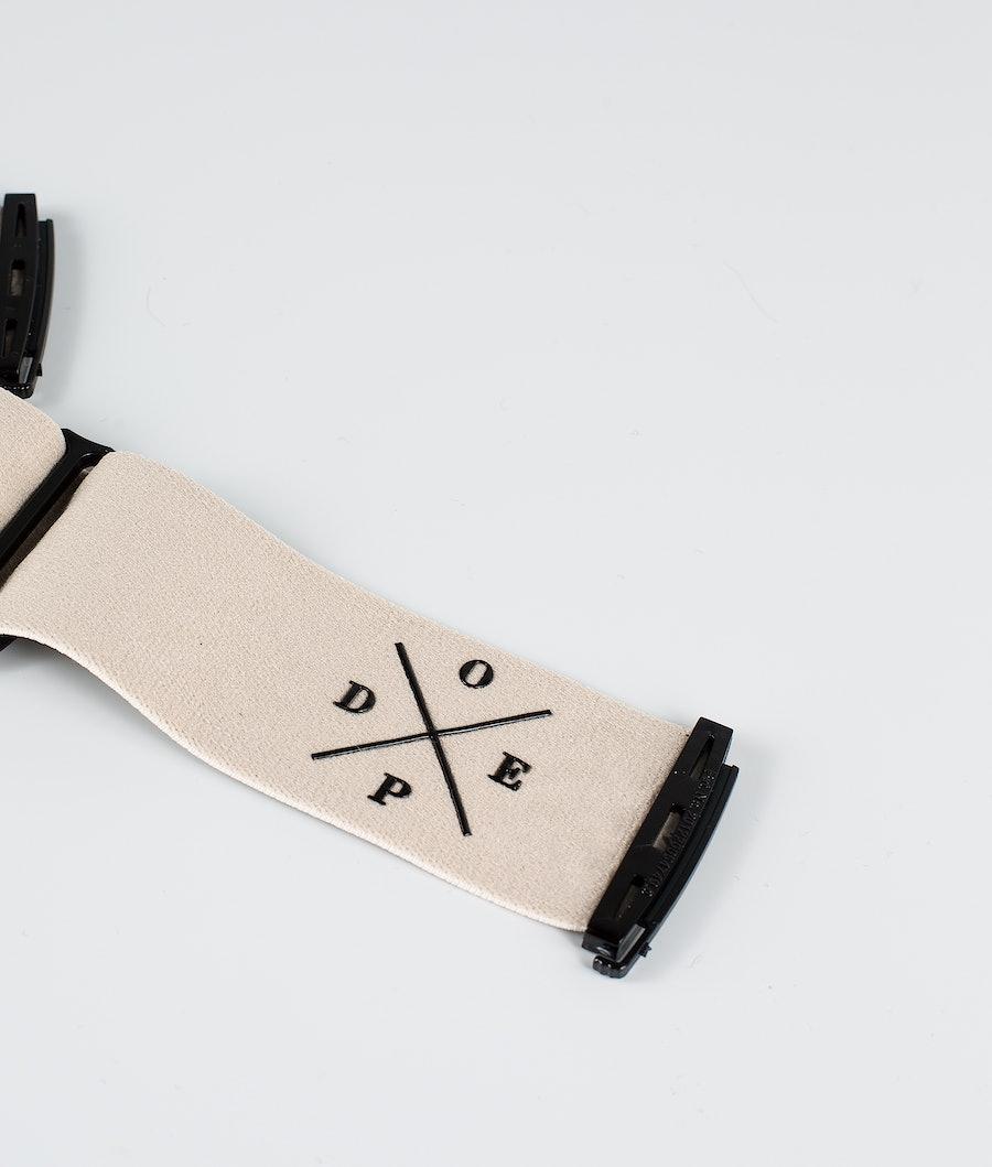 Dope 2X-UP Strap Naisten Lisävarusteet Laskettelulaseille Sand