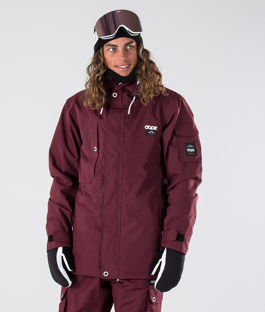 Adept Snowboard Jacket Men Burgundy