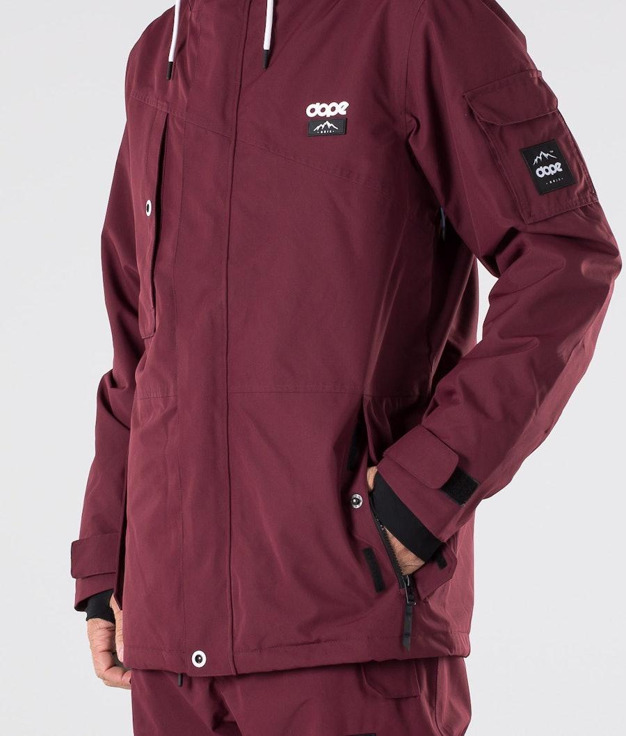 Dope Adept Snowboard Jacket Burgundy
