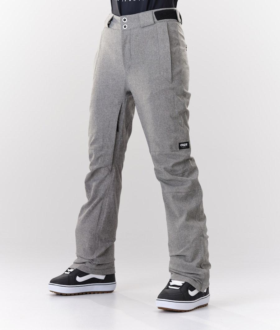 Con Snowboard Pants Women Grey Melange