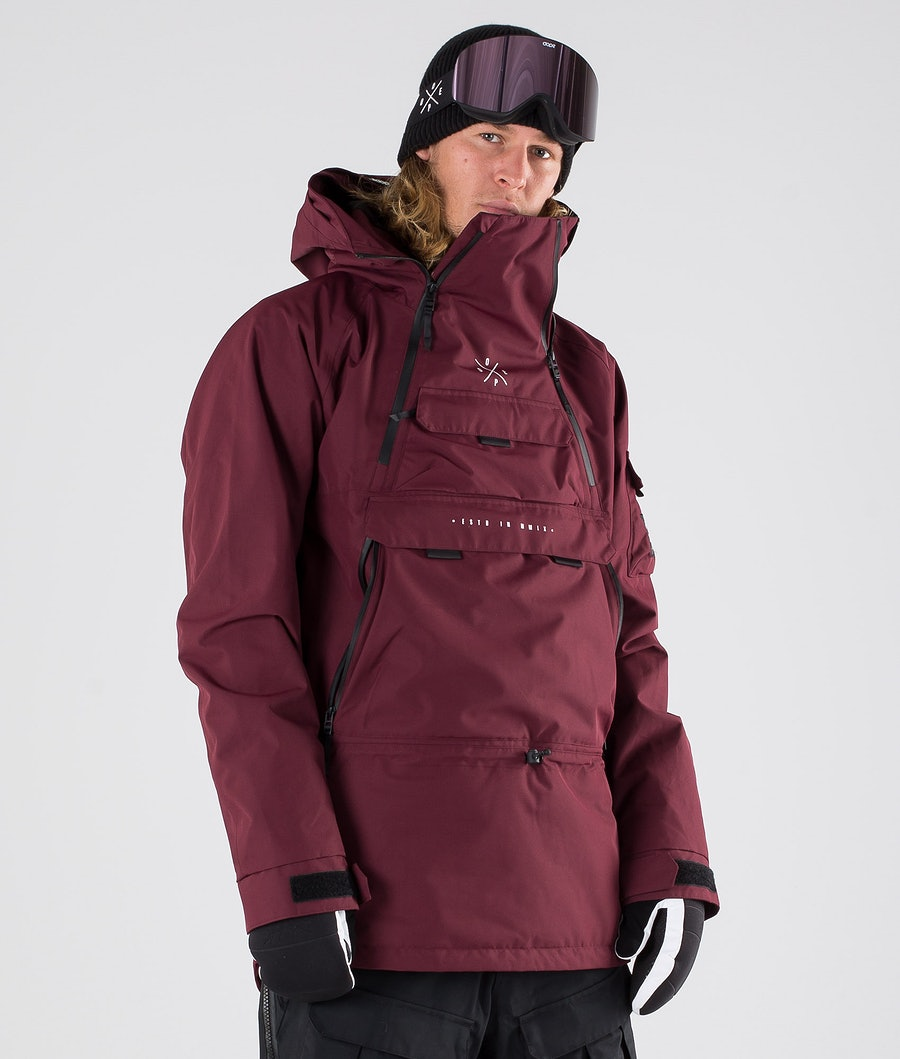 Akin Snowboard Jacket Men Burgundy
