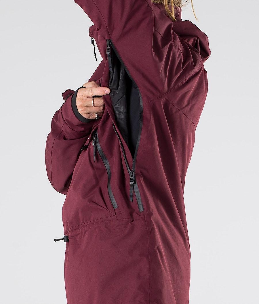 Dope Akin Snowboard Jacket Burgundy