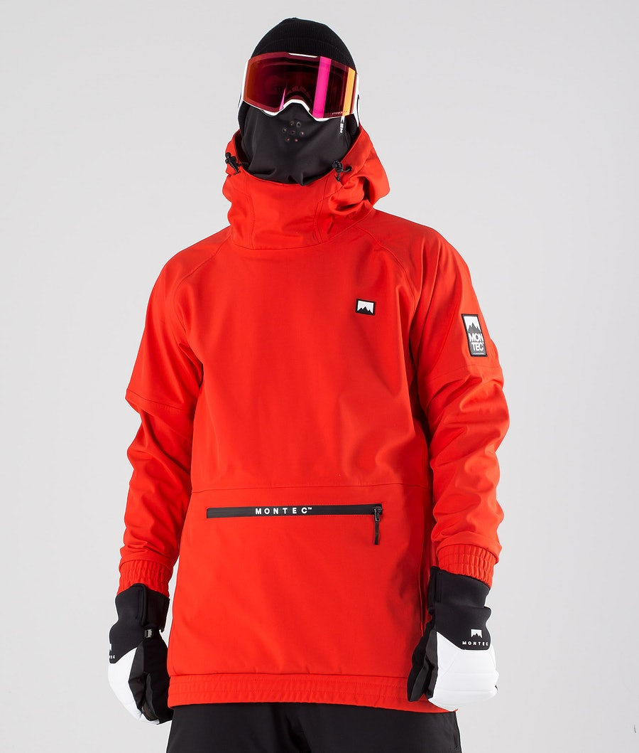 Montec Tempest Snowboard Jacket Red