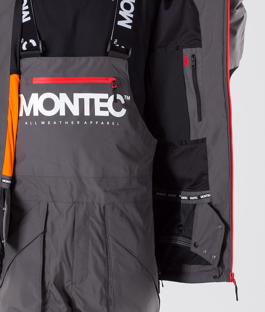 Montec Fenix Giacca Snowboard Pearl Fire/Red