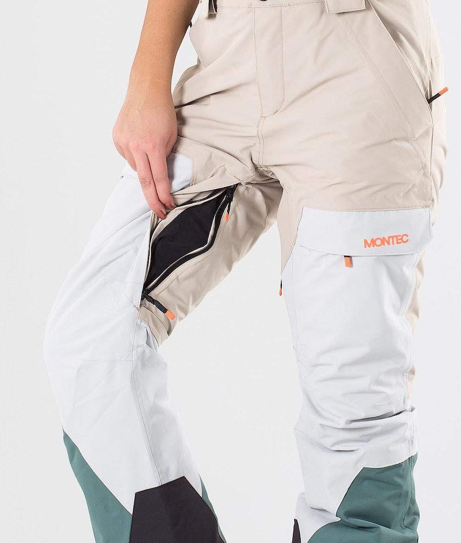 Montec Dune W Women's Snowboard Pants Desert Light Grey Atlantic