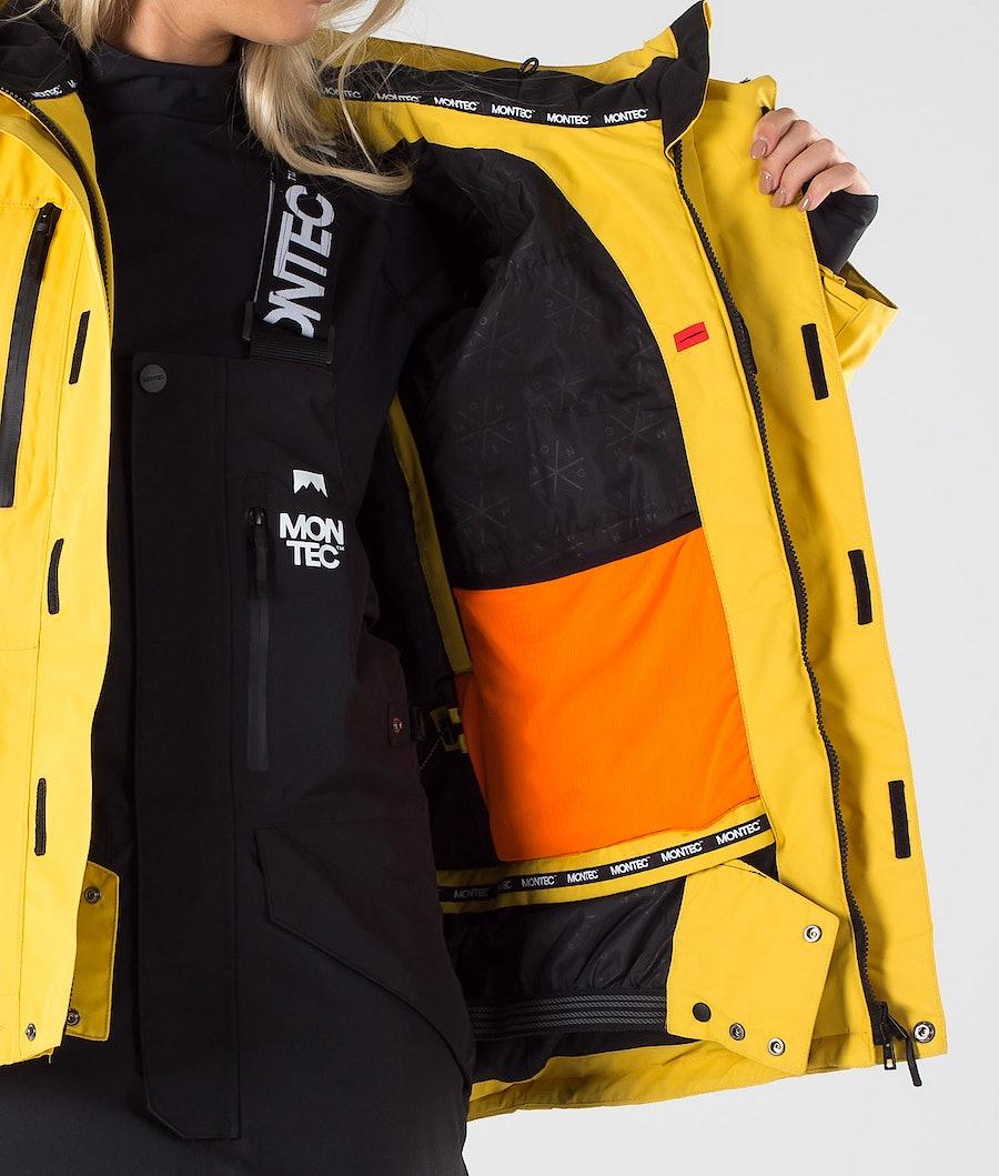 Montec Fawk W Women's Snowboard Jacket Yellow