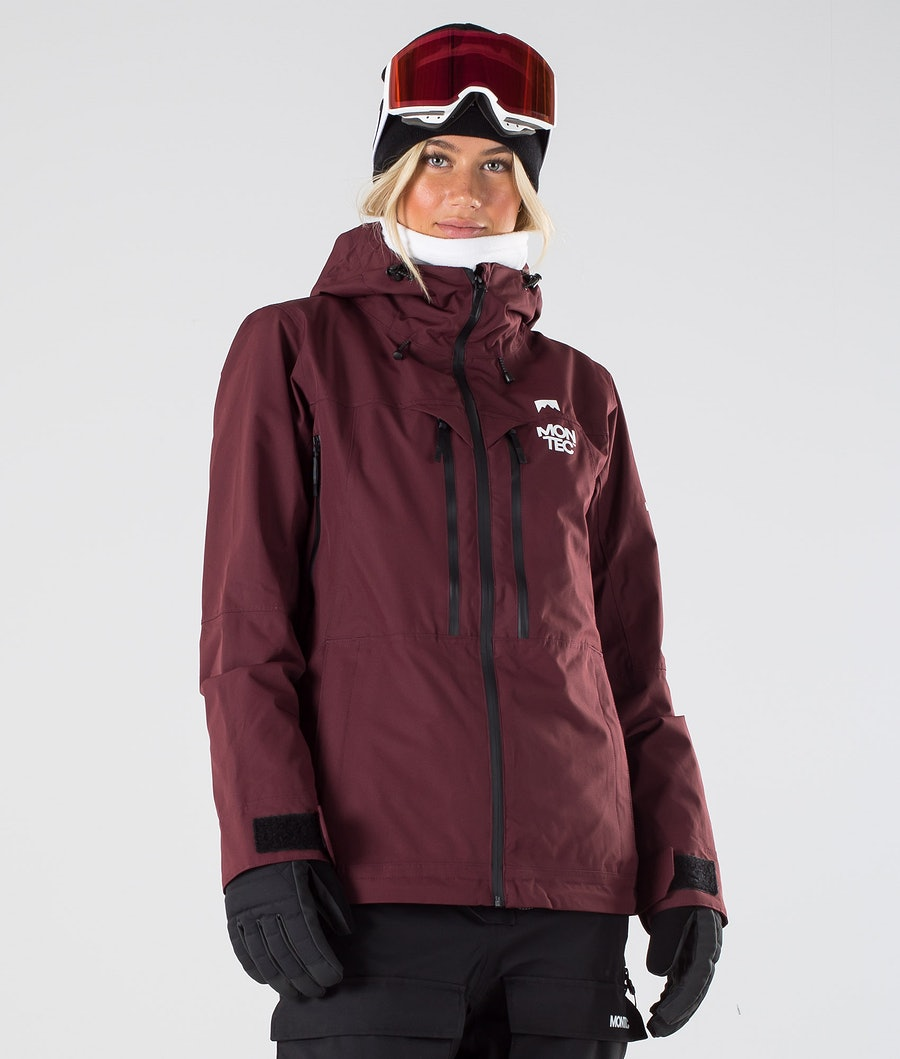 Montec Moss Snowboard Jacket Burgundy