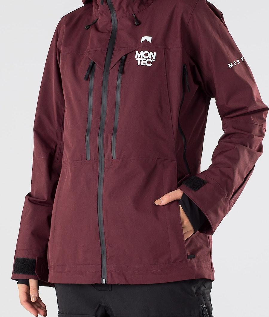 Montec Moss Women's Snowboard Jacket Burgundy