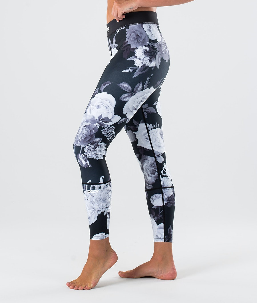 Dope Snuggle OG W Pantaloni Termici Black Flower