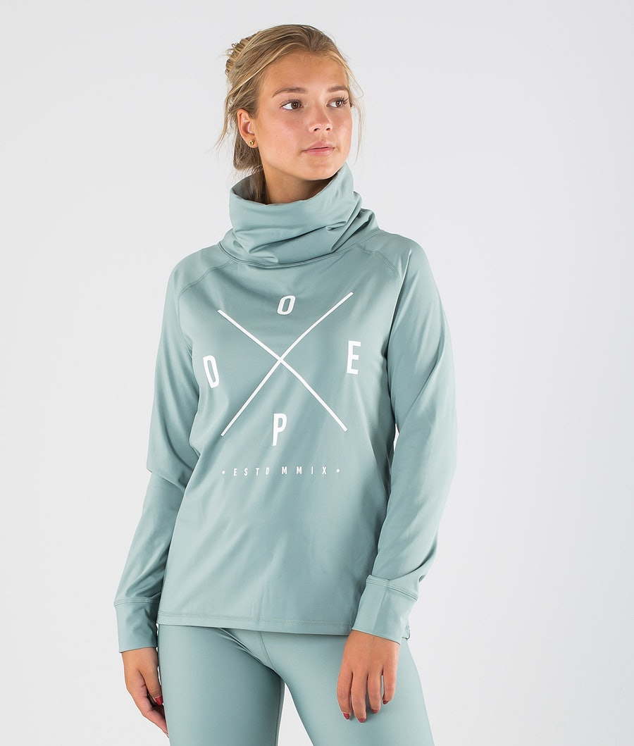 Snuggle 2X-UP W Base Layer Top Women Faded Green