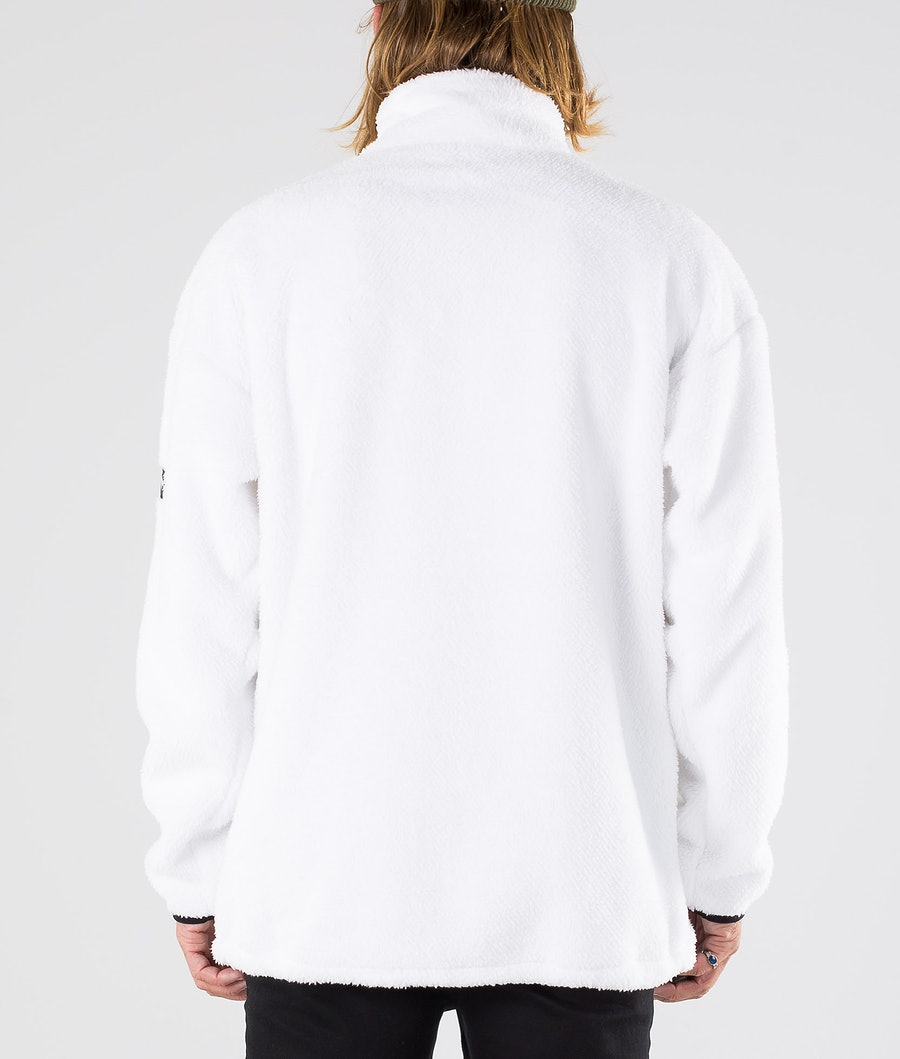 Dope Pile Fleece Sweater White