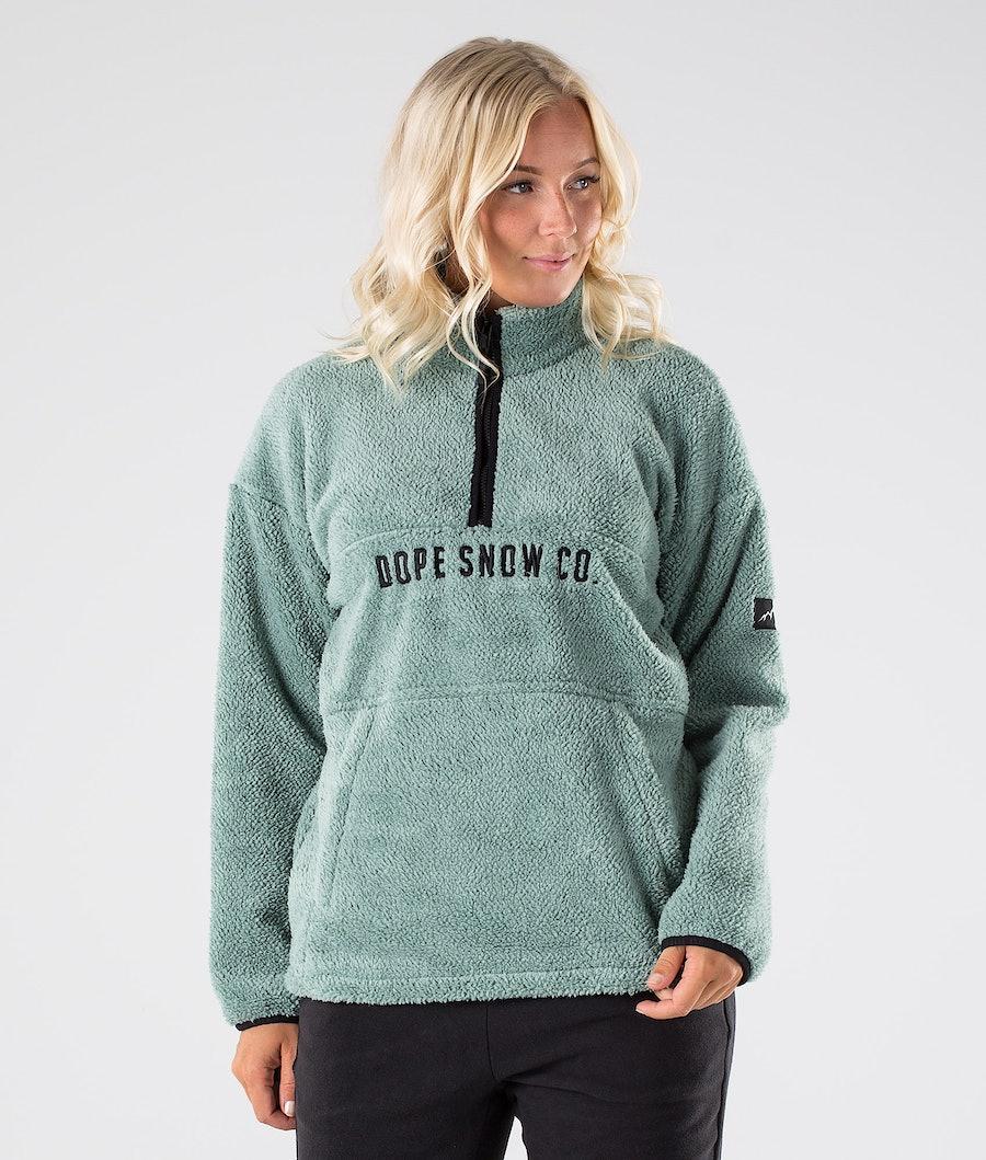 Dope Pile W Women's Fleece Sweater Faded Green