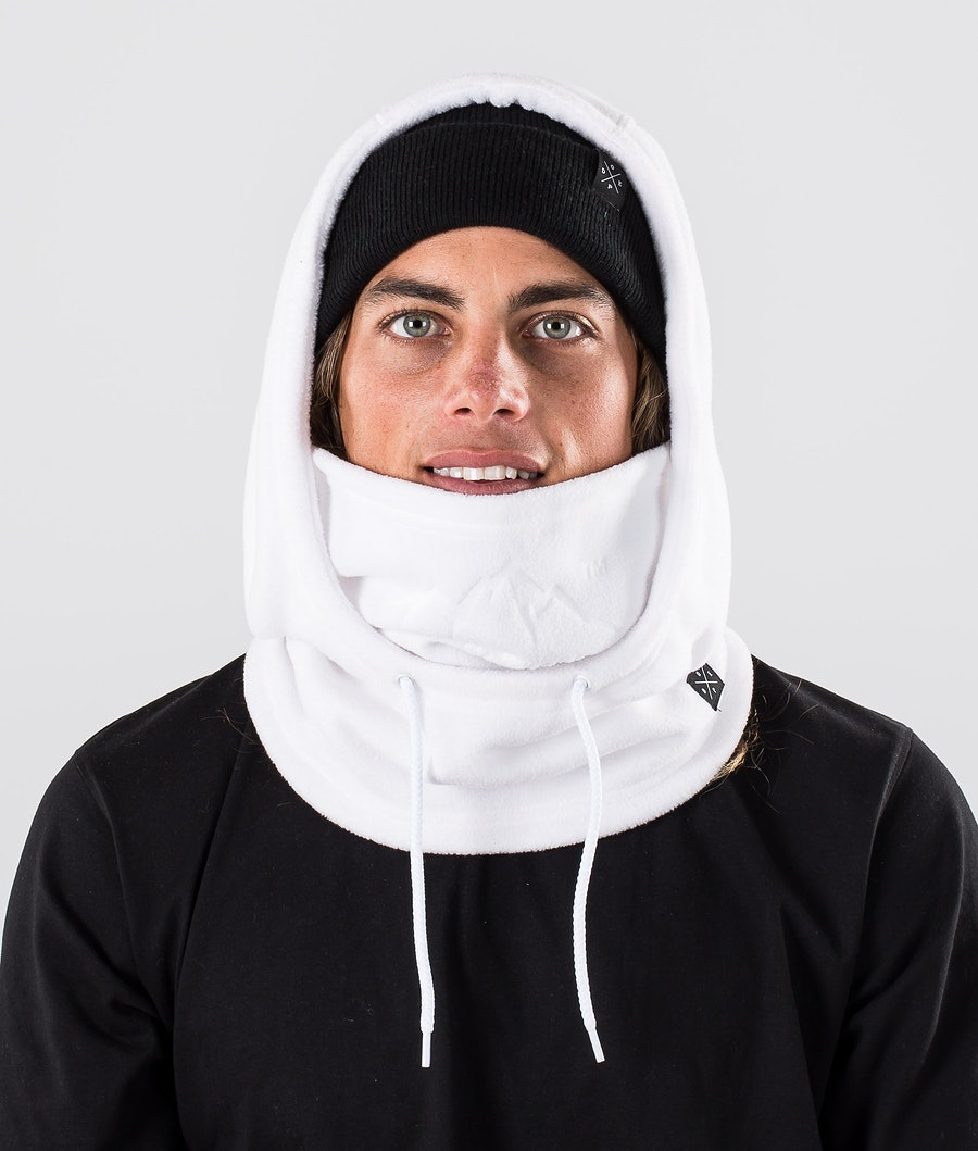 Dope Cozy Hood Facemask White