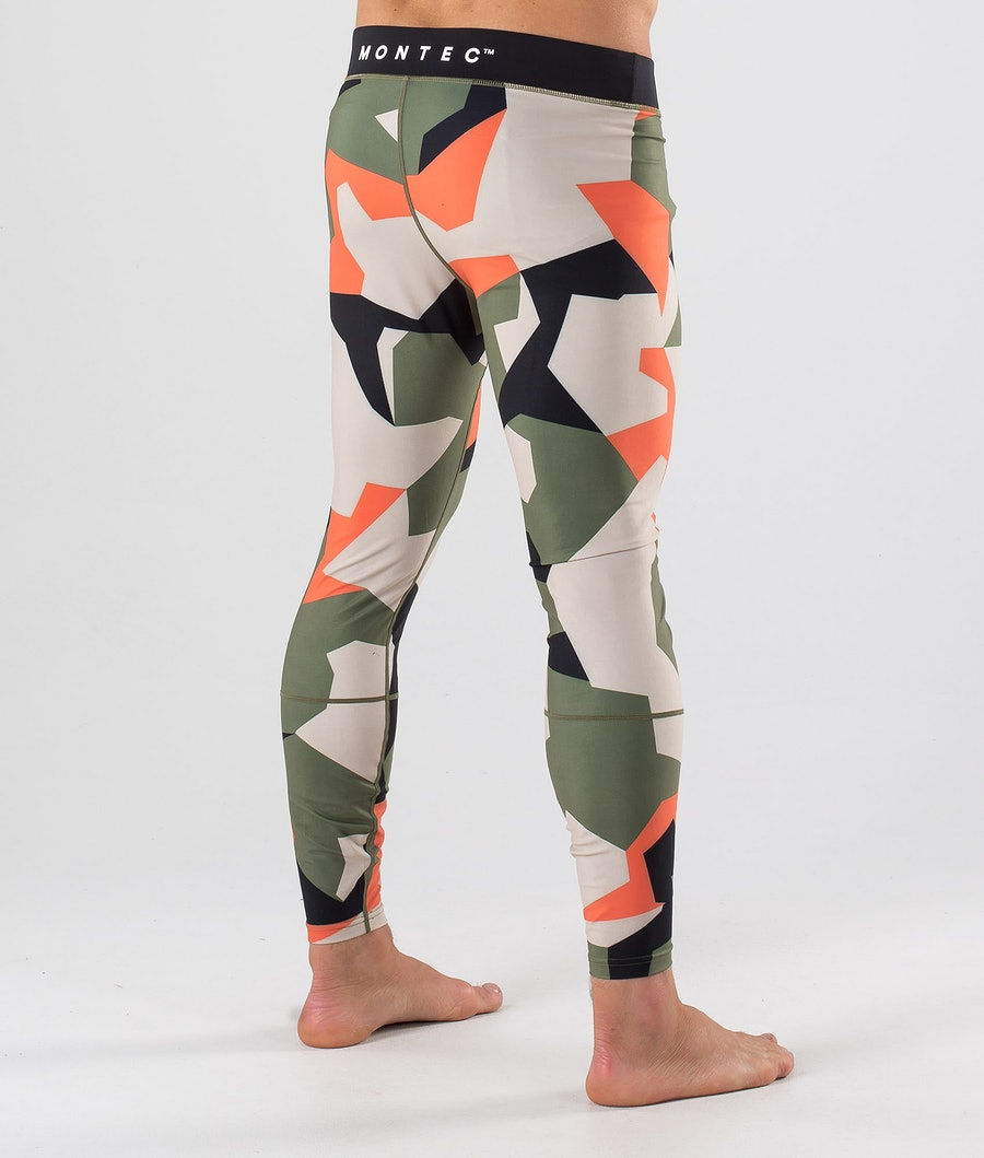 Montec Zulu Base Layer Pant Orange Green Camo