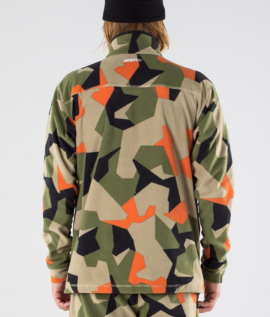 Montec Echo Fleece Sweater Green Orange Camo