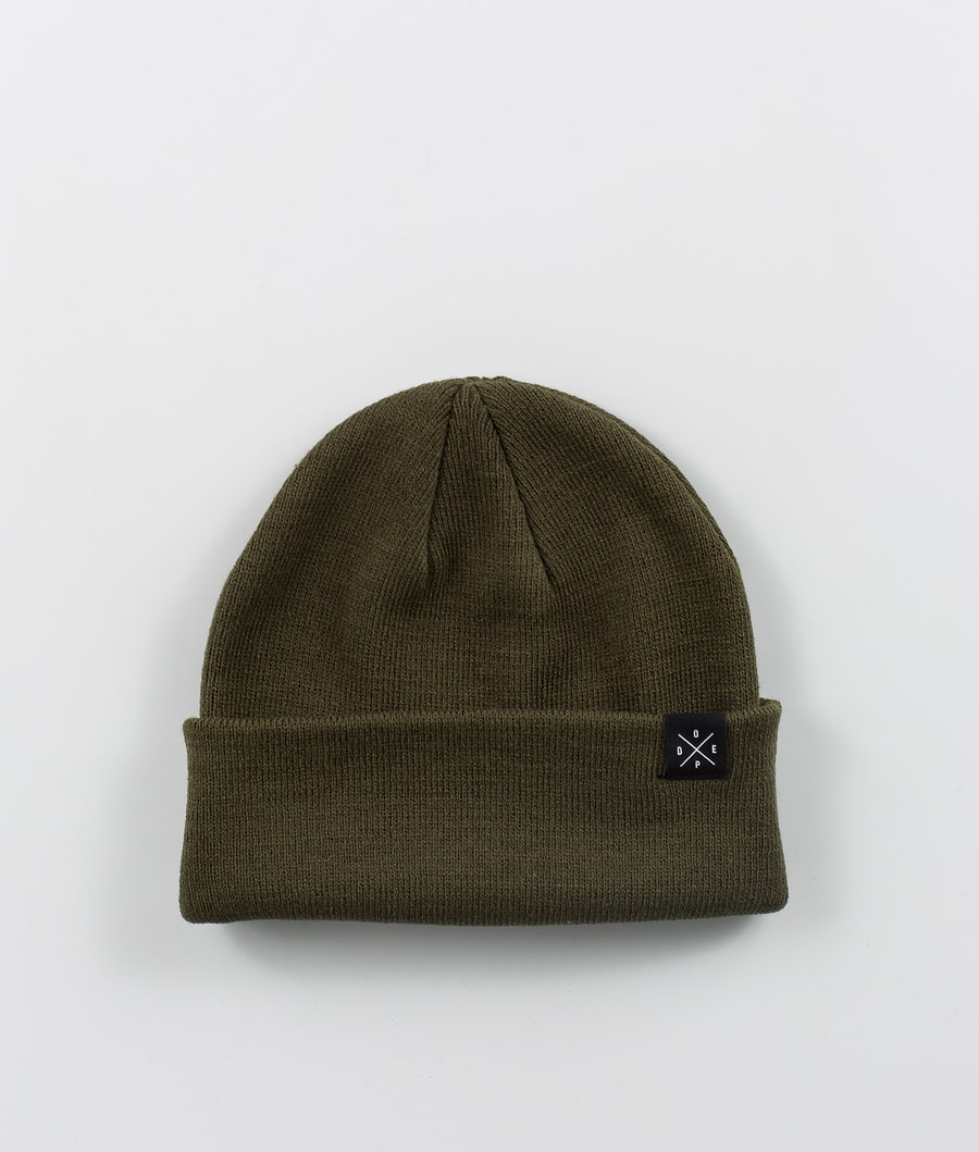 Solitude Beanie Men Olive Green