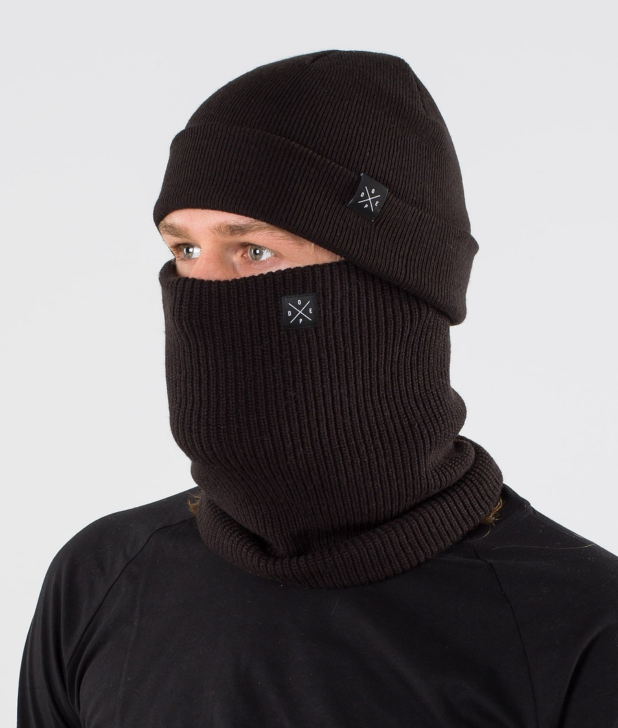 2X-UP Knitted Facemask Black
