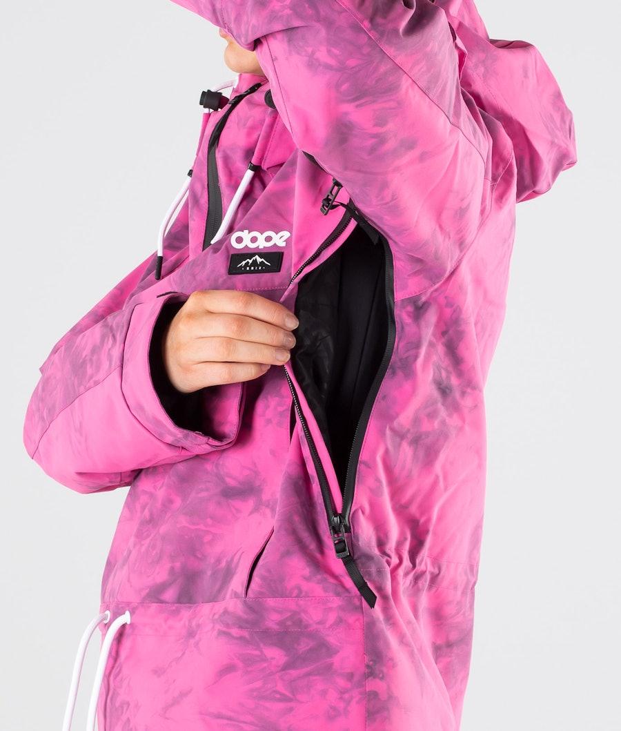 Dope Annok W Snowboardjacka Dam Pink Tiedye