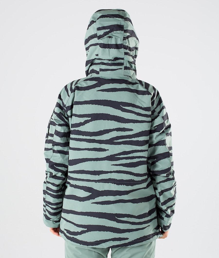 Dope Annok W Snowboardjacka Dam Green Zebra