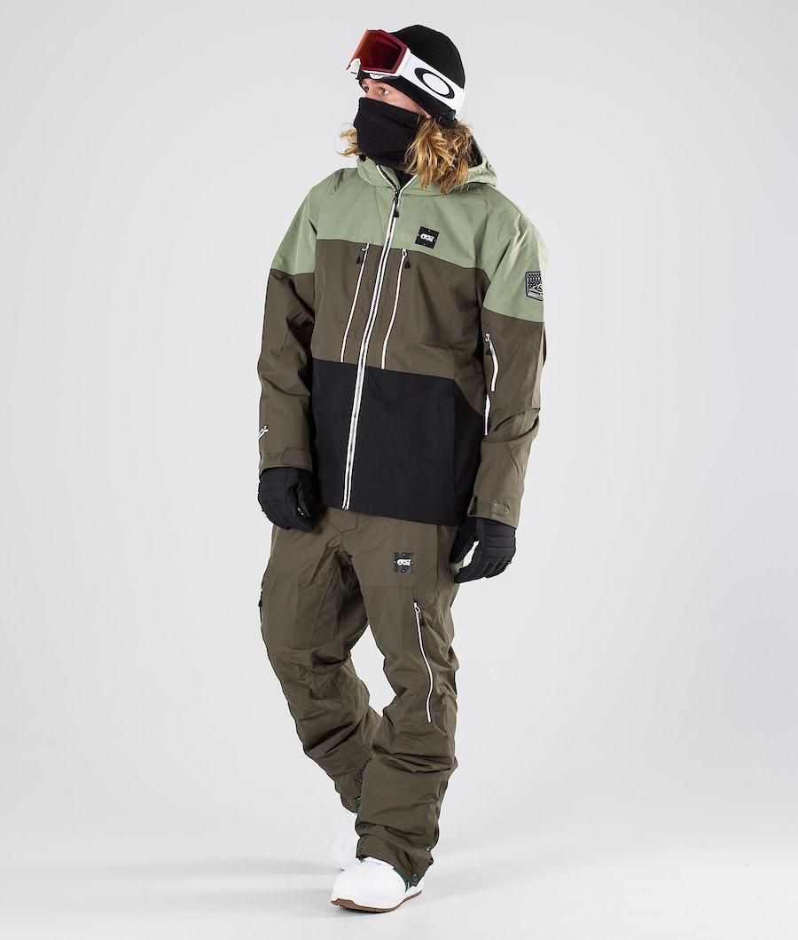 Picture Object Snowboardjacke Dark Army Green