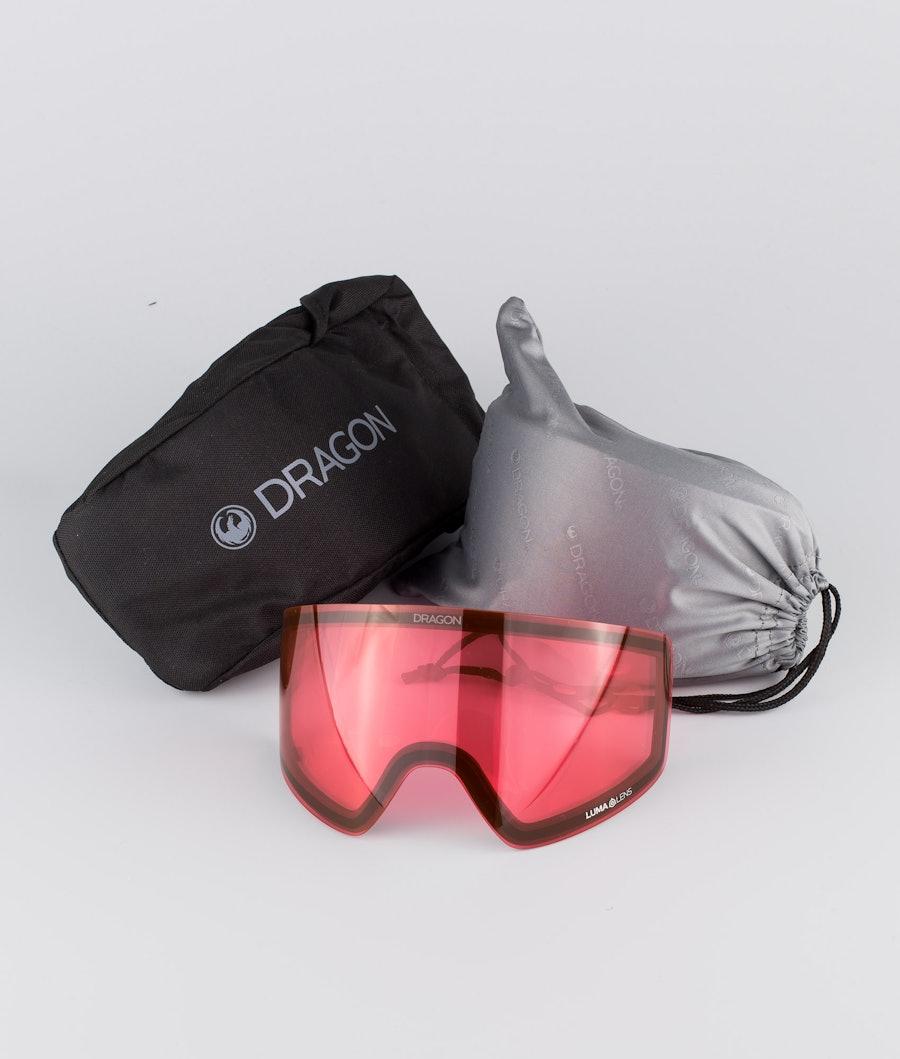 Dragon PXV Ski Goggle Black w/Lumalens Red Ion+Lumalens Rose