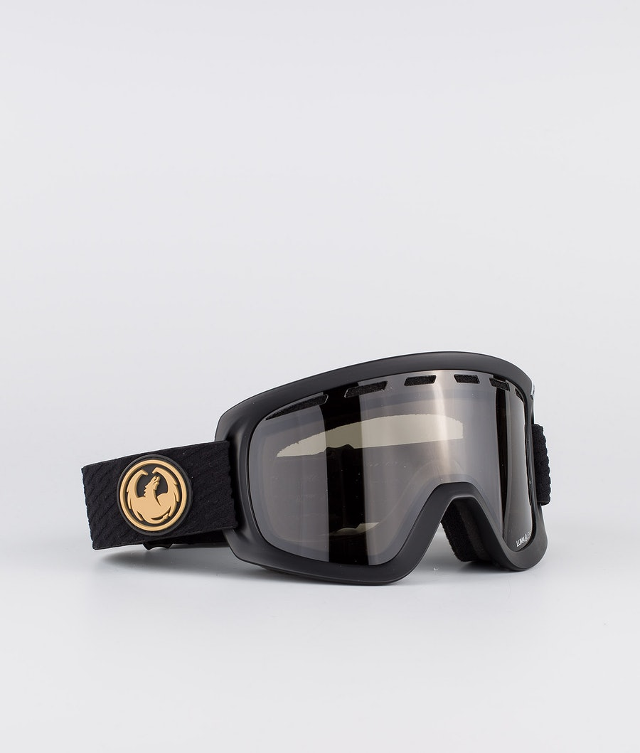 Dragon D1OGT Ski Goggle Pk Gumsole w/Lumalens Dark Smoke+Lumalens Amber