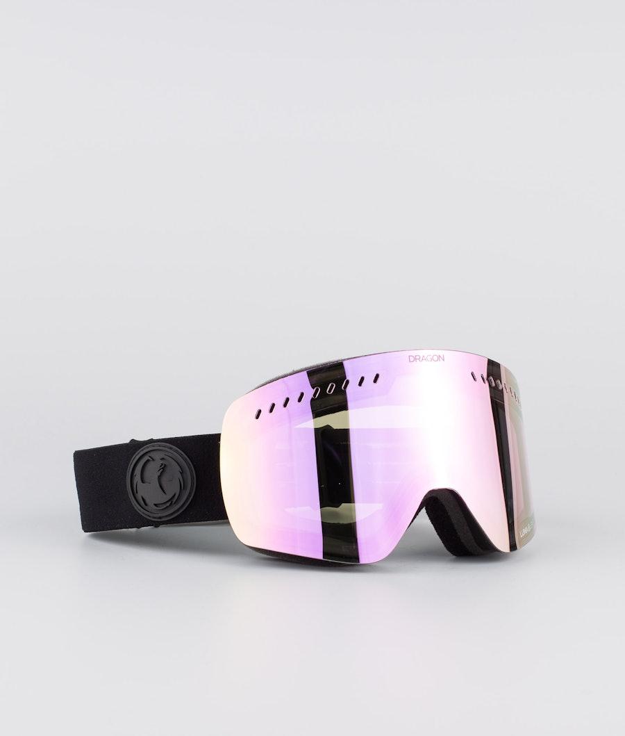 Dragon NFXs Ski Goggle Murdered W/Lumalens Pink Ionized