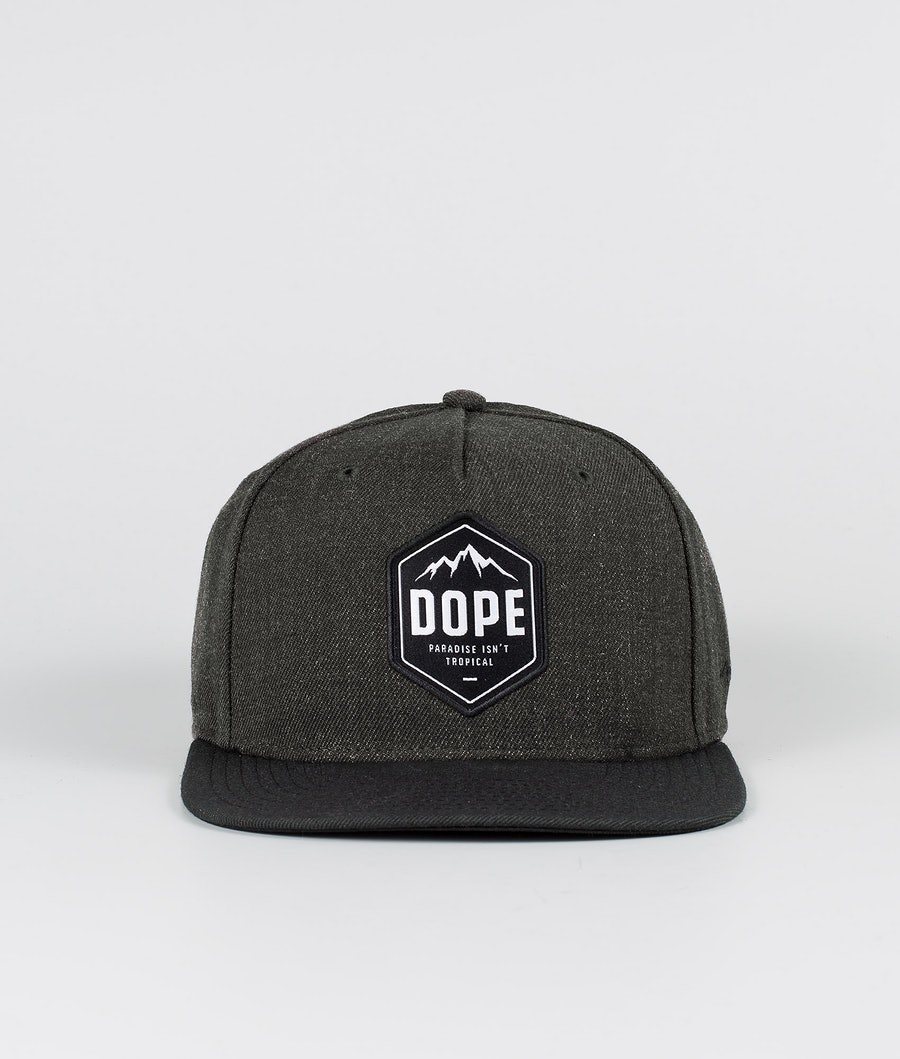 Dope Patched Keps Dark Grey Black