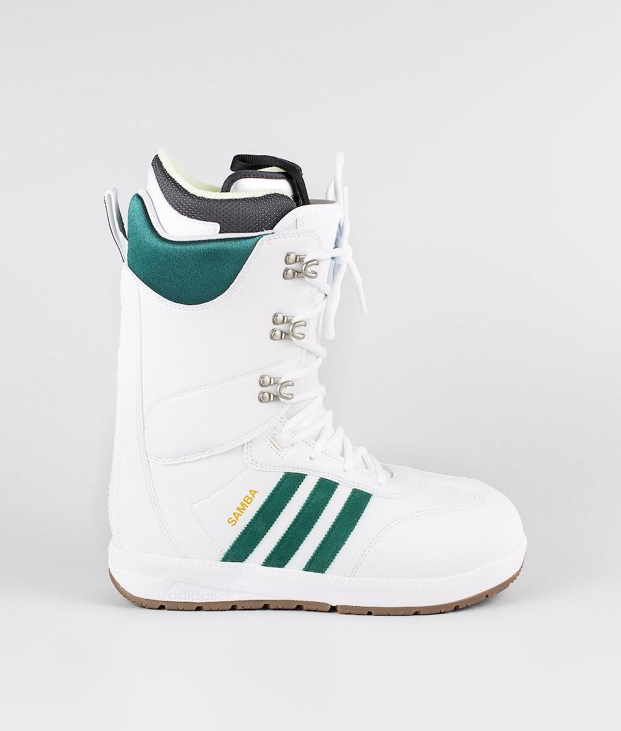 Adidas Snowboarding Samba Adv Snowboardboots Footwear White/Collegiate Green/Gum5