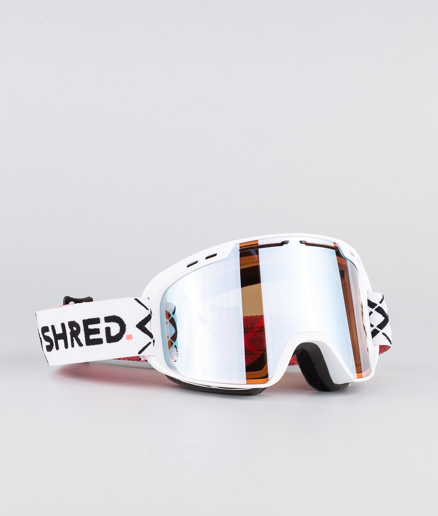 Shred Optics Amazify Bigshow Ski Goggle White-Cbl Sky