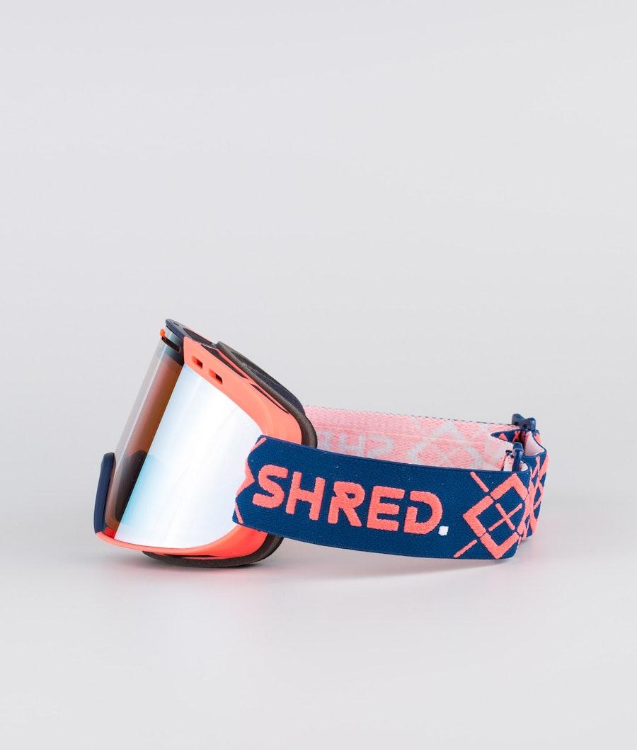 Shred Optics Amazify Bigshow Ski Goggle Navy/Rust-Cbl Sky