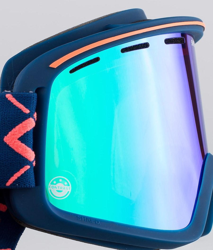 Shred Optics Monocle Bigshow Ski Goggle Navy-Cbl Plasma