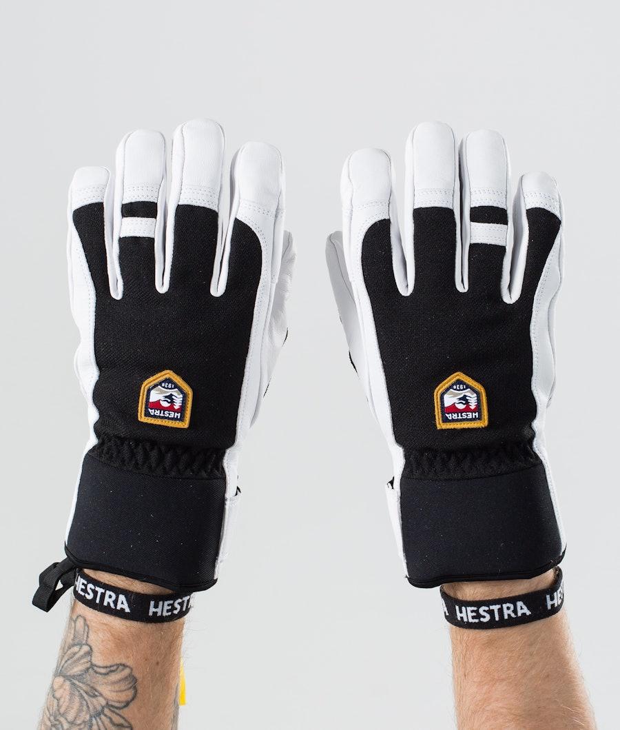 Hestra Army Leather Patrol 5 Finger Ski Gloves Black