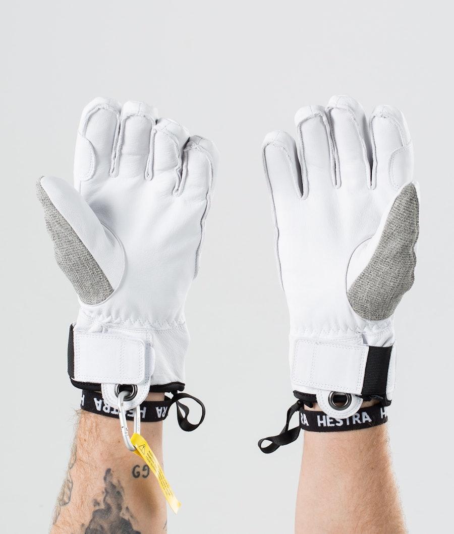 Hestra Army Leather Patrol 5 Finger Ski Gloves Light Grey