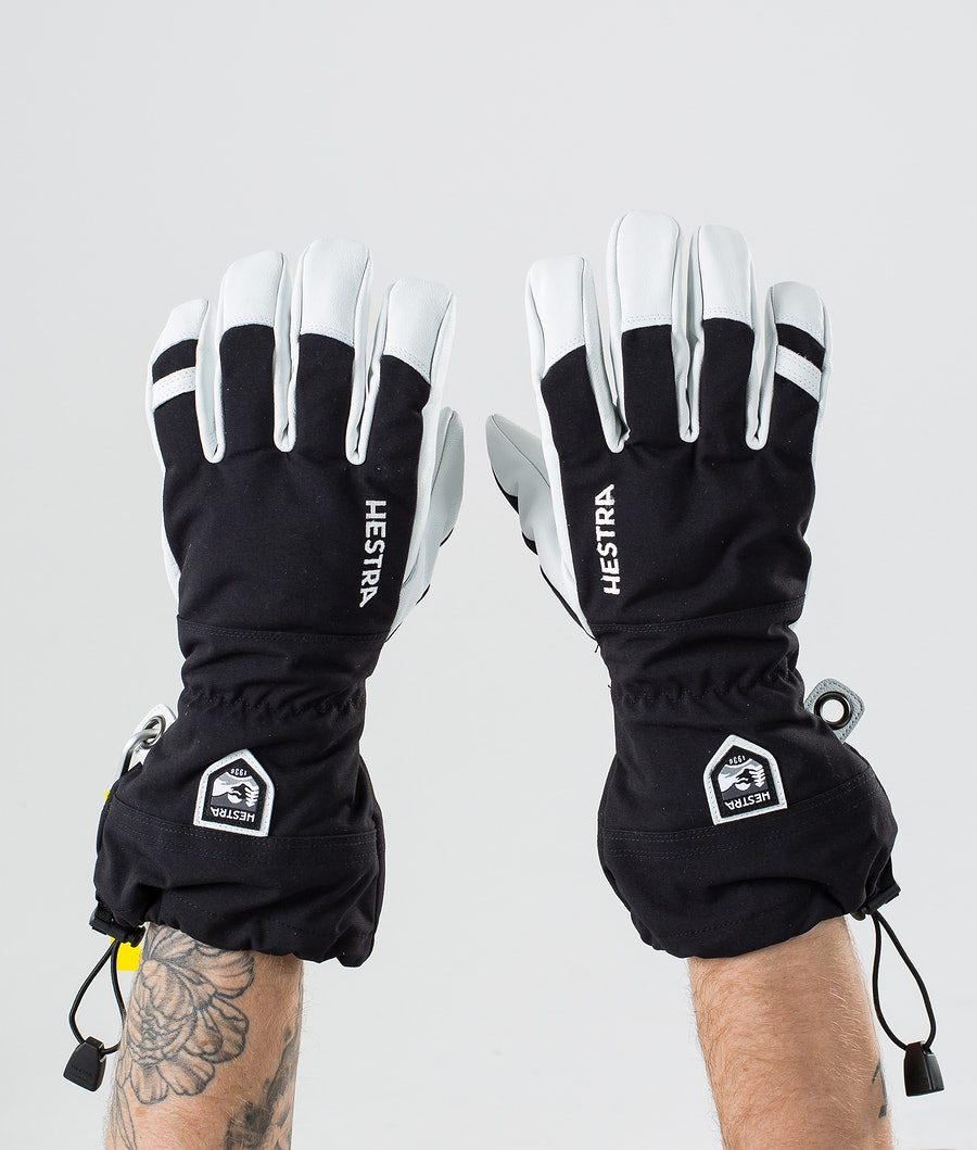 Hestra Army Leather Heli Ski 5 Finger Skidhandskar Black