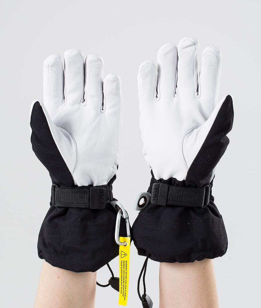 Hestra Heli Ski W 5-Finger Women's Ski Gloves Black/Offwhite