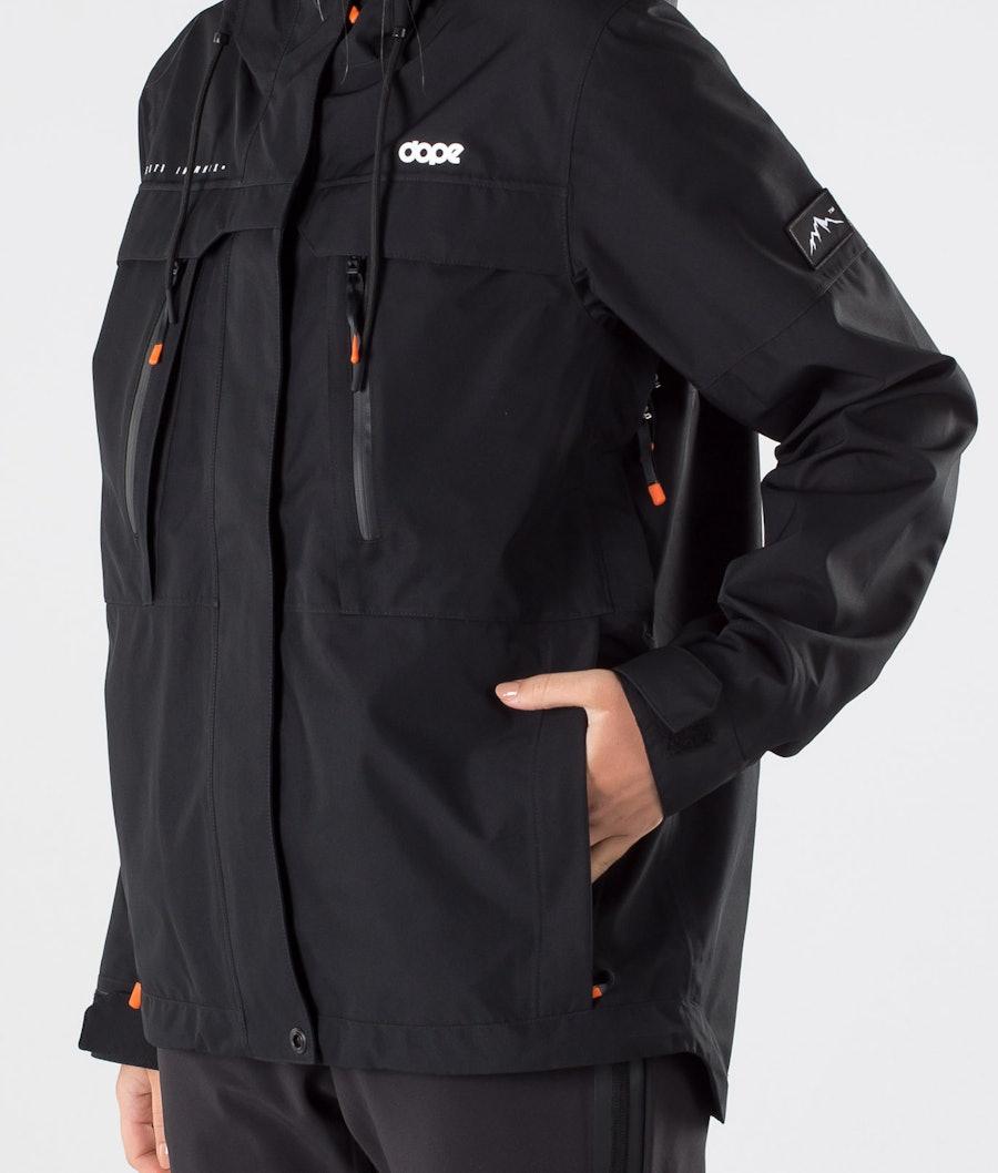 Dope Trekker 20 W Outdoor Jas Dames Black