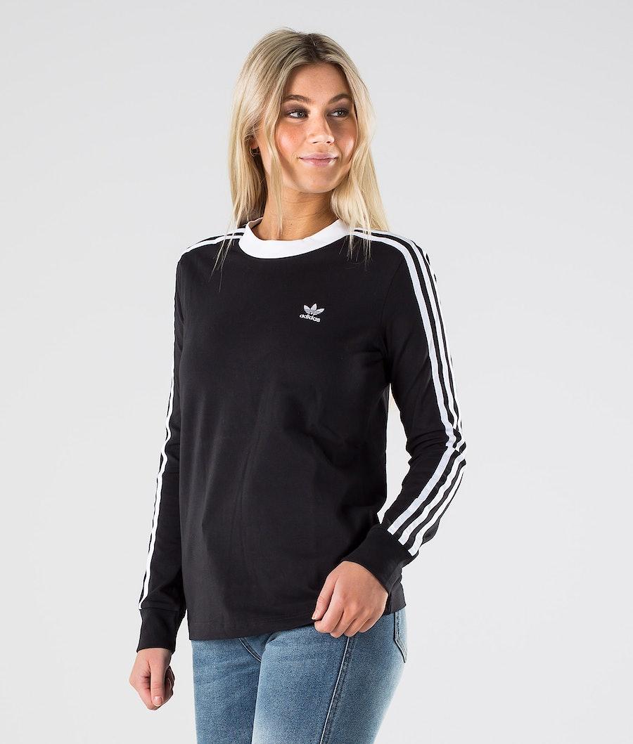 Adidas Originals 3 Stripes Longsleeve Dam Black/White